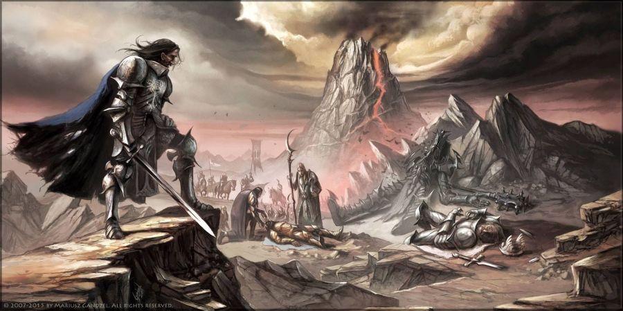 Isildur y Narsil