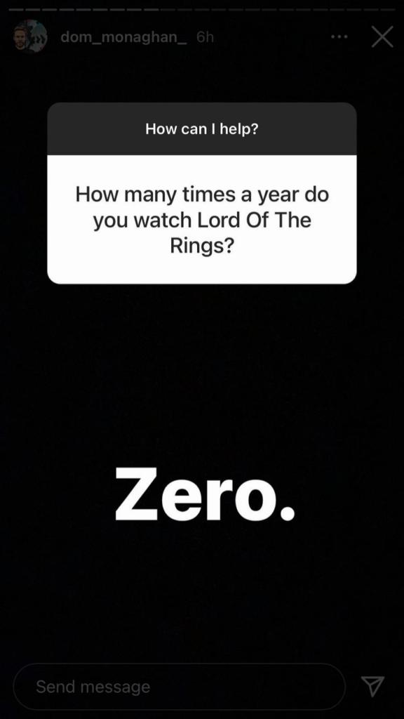 actor no ha visto el señor de los anillos