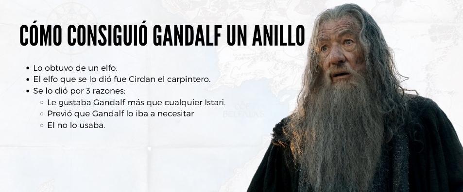 gandalf y el anillo