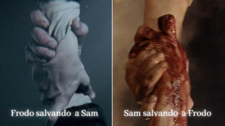 las manos de frodo y sam
