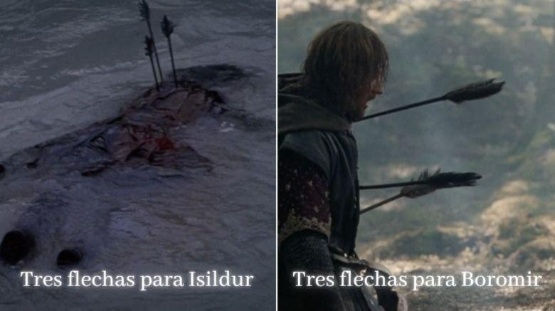 Boromir e isildur muertes similares