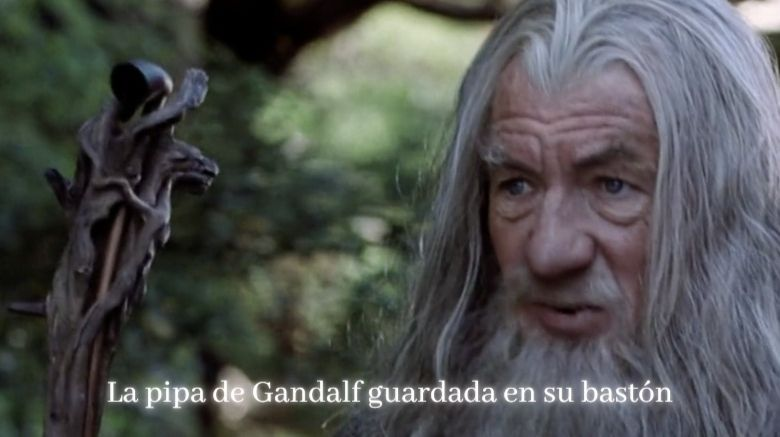 pipa de gandalf en baston