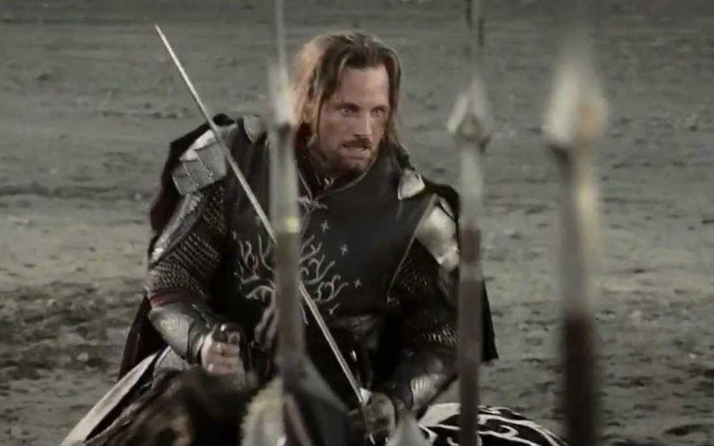 rey aragorn en mordor