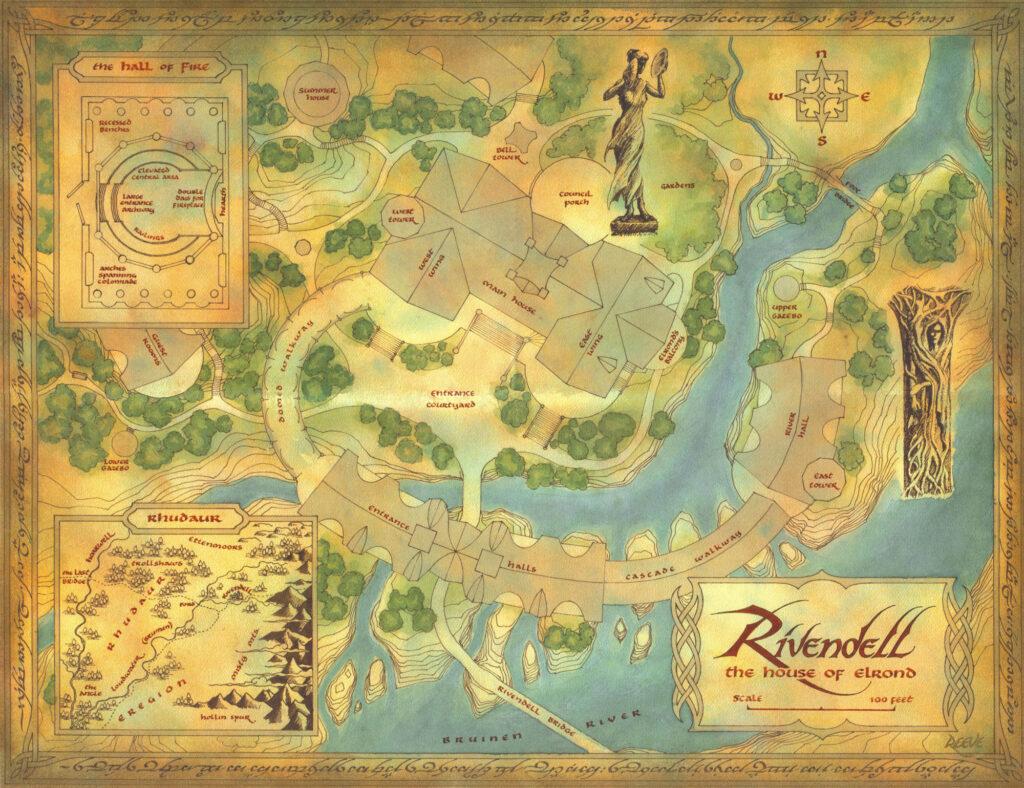 mapa tierra media rivendel