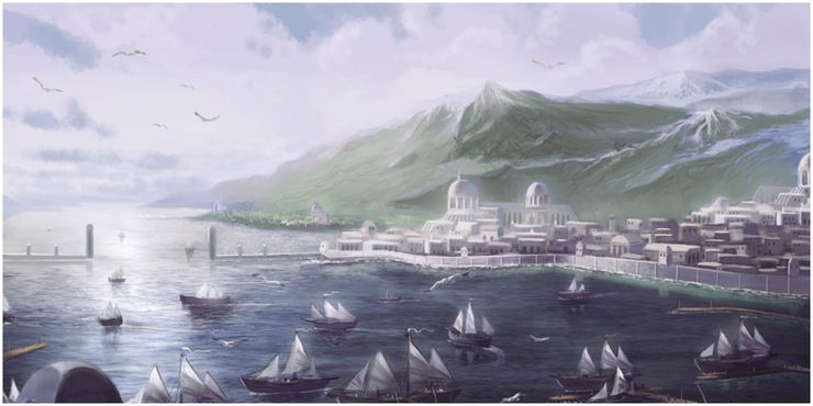 los puertos grises la tierra media